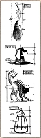 Stamper's Anonymous / Tim Holtz - Cling Mounted Rubber Stamp Set - Mini Blueprints Halloween #3