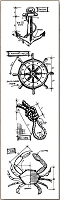 Stamper's Anonymous / Tim Holtz - Cling Mounted Rubber Stamp Set - Mini Blueprints Mariner