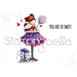 Stamping Bella - Cling Rubber Stamp - tiny townie Sammy is Sweet