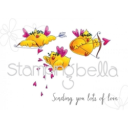 Stamping Bella - Cling Rubber Stamp - Cupid Chicks