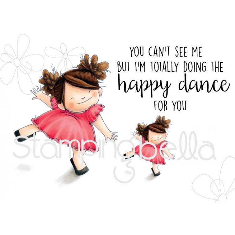 Stamping Bella Cling Rubber Stamp Happy Dance Squidgy