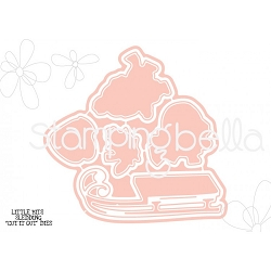 Stamping Bella - Cutting Dies - Little Bits Sledding CUT IT OUT dies