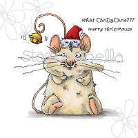 Stamping Bella - Cling Rubber Stamp - Christmas Mouse