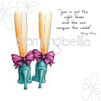 Stamping Bella - Cling Rubber Stamp - Closeups the right shoes