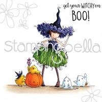 Stamping Bella - Cling Rubber Stamp - Tiny Townie Willow the witch