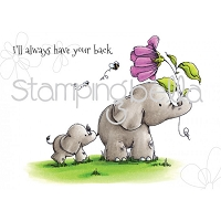 Stamping Bella - Cling Rubber Stamp - I'll Always have your back stuffies