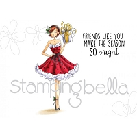 Stamping Bella - Cling Rubber Stamp - Christmas Gift Abella