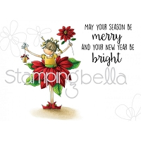 Stamping Bella - Cling Rubber Stamp - Tiny Townie Pamela the Poinsettia