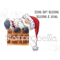 Stamping Bella - Cling Rubber Stamp - Santa is Stuck