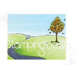Stamping Bella - Cling Rubber Stamp - Fall Backdrop