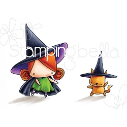 Stamping Bella - Cling Rubber Stamp - Little Bits Halloween Little Witchies