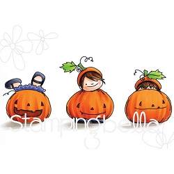 Stamping Bella - Cling Rubber Stamp - Squidgy Pumpkin Trio