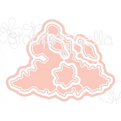 Stamping Bella - Cutting Dies - The Littles Playing in Leaves CUT IT OUT dies