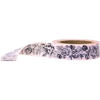 Stampington & Company - Washi Tape - Pearl Rose Pattern