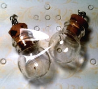 Dangles - Mini Glass Vials - bubble