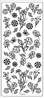 Sticker King Peel Off Stickers - Small Flowers (Silver)