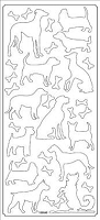 Sticker King Peel Off Stickers - Solid Dogs (Silver)