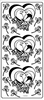Sticker King Peel Off Stickers - Love Birds (Gold)