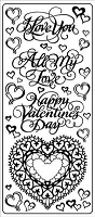 Sticker King Peel Off Stickers - Love/Valentine (Gold)