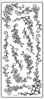 Sticker King Peel Off Stickers - Floral Sprays (Silver)