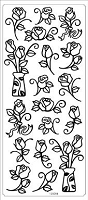 Sticker King Peel Off Stickers - Roses (Silver)
