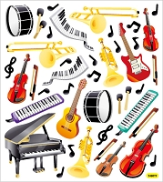 Sticker King-Flat Stickers-Musical Instruments