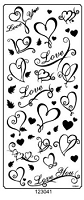 Sticker King Peel Off Stickers - Love (Gold)