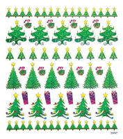 Sticker King-Flat Stickers-Christmas Trees