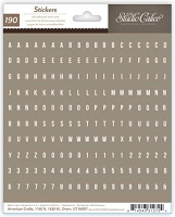 Studio Calico - Sundrifter Collection - Brown Mini Alpha Stickers