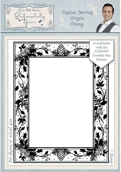 Creative Expressions - Cling Stamp - Festive Berries Ornate Frame by Phill Martin