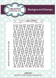 Creative Expressions - Cling Stamp - Quirky Trees Background by Lisa Horton