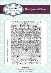 Creative Expressions - Cling Stamp - Christmas Chorus Background by Lisa Horton