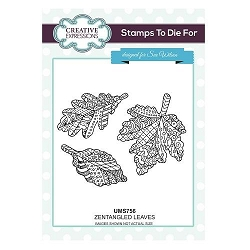 Sue Wilson Designs - Cling Mounted Stamp - Zentangled Leaves