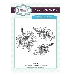 Sue Wilson Designs - Cling Mounted Stamp - Autumn Leaf Bouquets