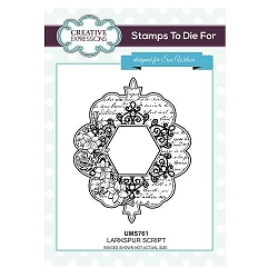 Sue Wilson Designs - Cling Mounted Stamp - Larkspur Script