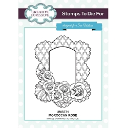 Sue Wilson Designs - Cling Mounted Stamp - Moroccan Rose