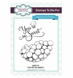 Sue Wilson Designs - Cling Mounted Stamp - You're So Sweet