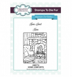 Sue Wilson Designs - Cling Mounted Stamp - Home Comforts