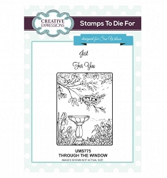 Sue Wilson Designs - Cling Mounted Stamp - Through the Window