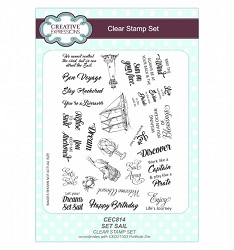 Sue Wilson Designs - Clear Stamp Set - Set Sail