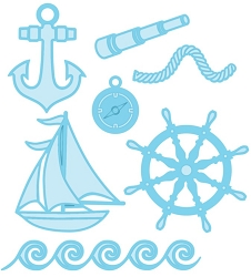 Sue Wilson Designs - Die - Fillables - Nautical Accessories