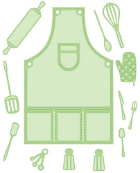 Sue Wilson Designs - Die - Necessities Collection - Apron