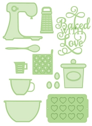 Sue Wilson Designs - Die - Necessities Collection - Baked with Love