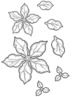 Sue Wilson Designs - Cling Stamp - Shaded Poinsettia Additions