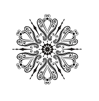 Sue Wilson Designs - Cling Stamp - Eastern Star