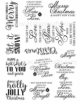 Sue Wilson Designs - Clear Stamps - Holly Jolly Stentiments