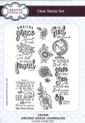 Sue Wilson Designs - Clear Stamp Set - Amazing Grace Journaling