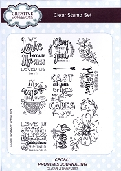Sue Wilson Designs - Clear Stamp Set - Promises Journaling