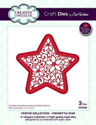 Sue Wilson Designs - Die - Festive Collection Poinsettia Star