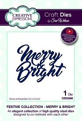Sue Wilson Designs - Die - Festive Collection Merry & Bright